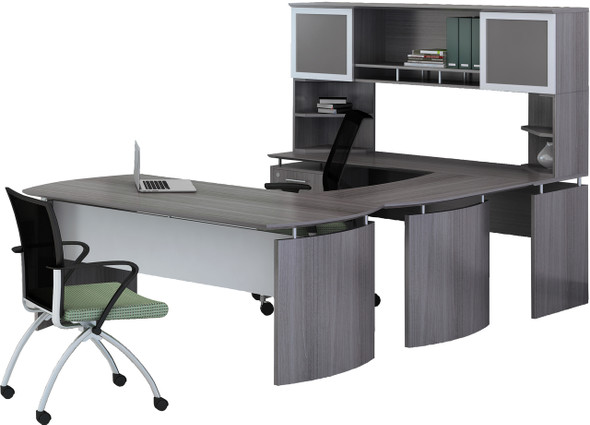 Mayline Medina Office Desk Set Gray Steel [MNT35LGS]-1
