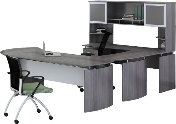 Mayline Medina Office Desk Set Gray Steel [MNT30LGS]-1