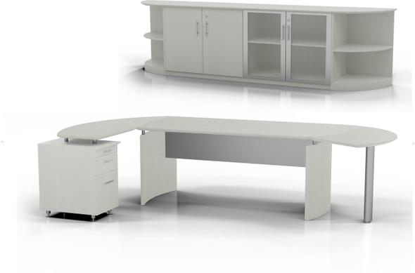 Mayline Medina Office Desk Set Textured Sea Salt [MNT9TSS]-1