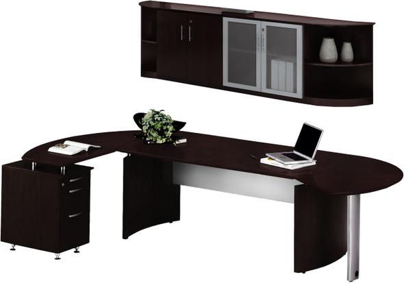 Mayline Medina Office Desk Set Mocha [MNT9LDC]-1