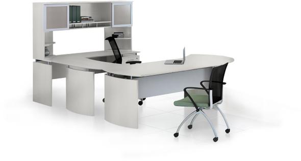 Mayline Medina Office Desk Set Textured Sea Salt [MNT31TSS]-1