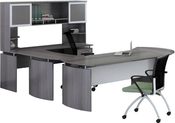 Mayline Medina Office Desk Set Gray Steel [MNT31LGS]-1