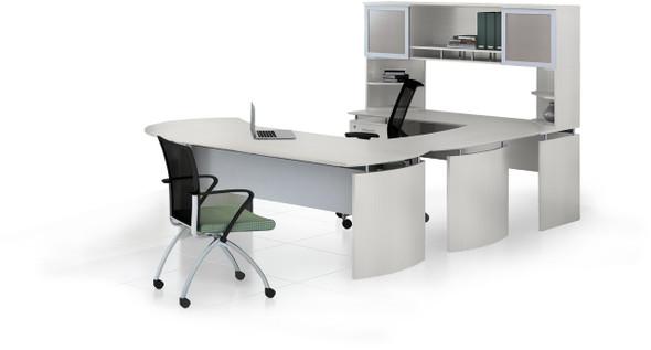 Mayline Medina Office Desk Set Textured Sea Salt [MNT32TSS]-1