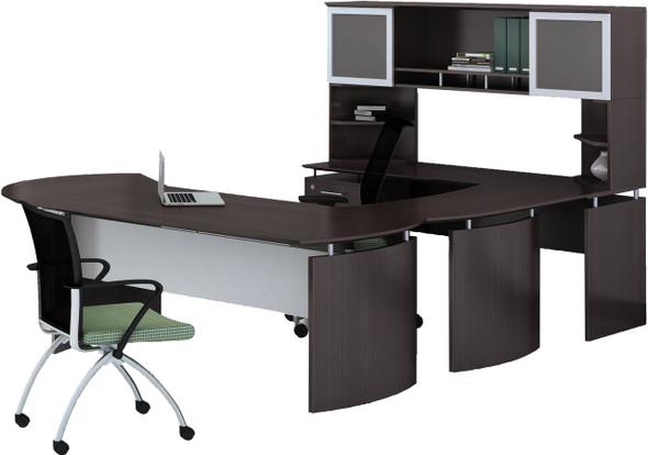 Mayline Medina Office Desk Set Mocha [MNT32LDC]-1
