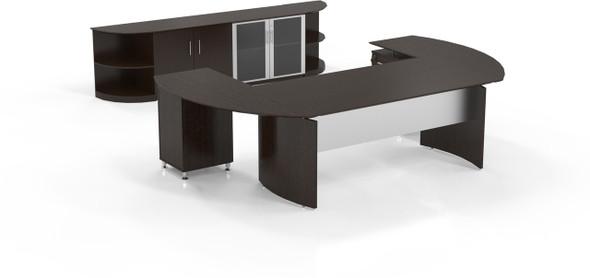 Mayline Medina Office Desk Set Mocha [MNT13LDC]-1