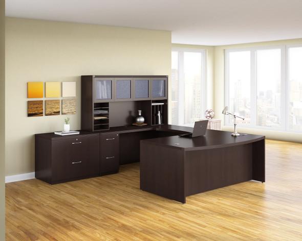 Mayline Aberdeen Office Desk Set Mocha [AT10LDC]-1
