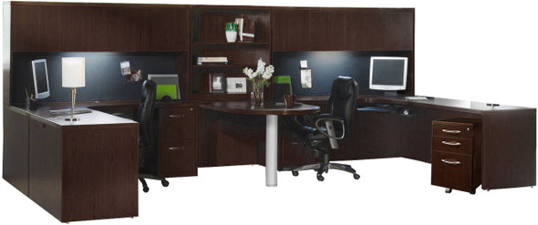 Mayline Aberdeen Office Desk Set Mocha [AT17LDC]-1