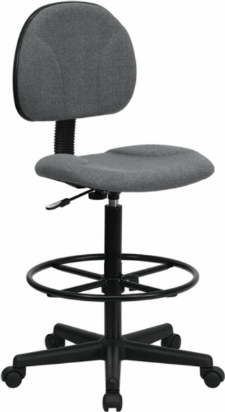 Adjustable Height Office Stool [BT-659-BLK-GG] -4