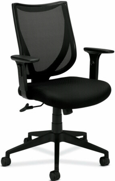 Basyx Mid Back Black Mesh Office Chair [VL561] -1