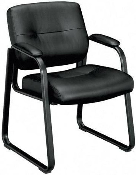 Basyx Plush Leather Office Guest Chair [VL693] -1