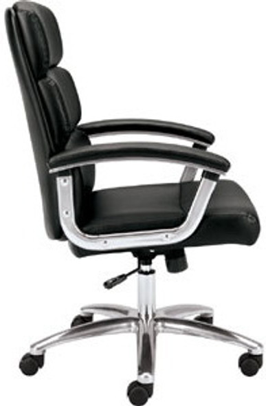 Basyx Mid Back Polished Frame Office Executive Chair [VL103] -2