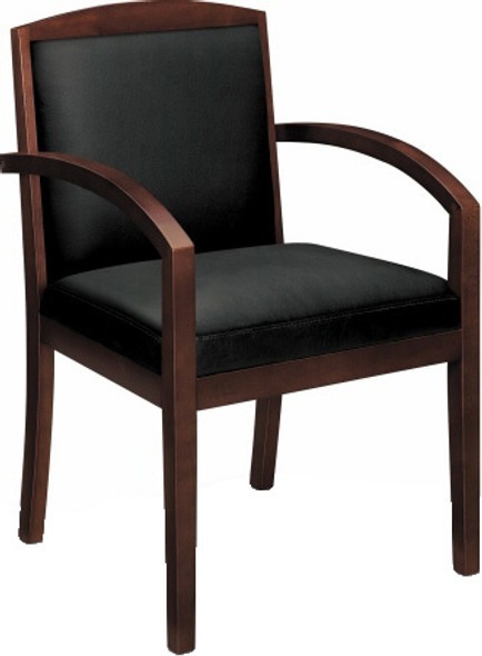 Basyx Wooden Frame Leather Guest Chair [VL853] -2