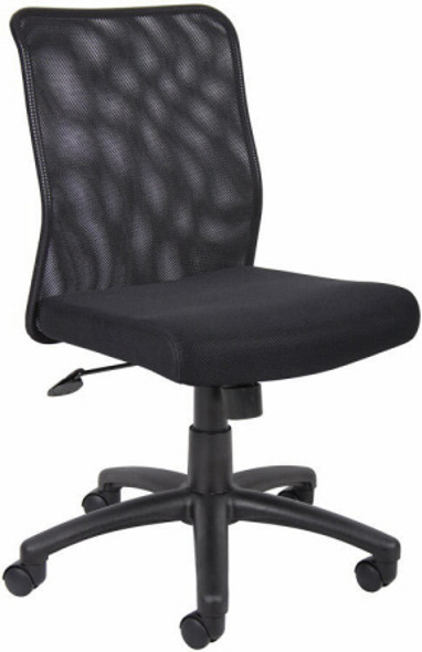 Boss Armless Mesh Back Task Chair [B6105] -1