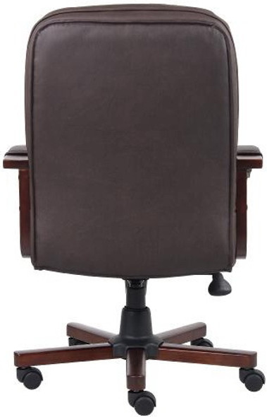 Boss Brown LeatherPlus Office Chair [B796] -2