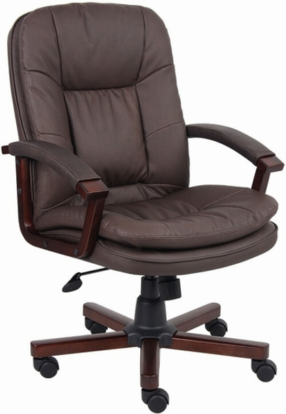 Boss Brown LeatherPlus Office Chair [B796] -1