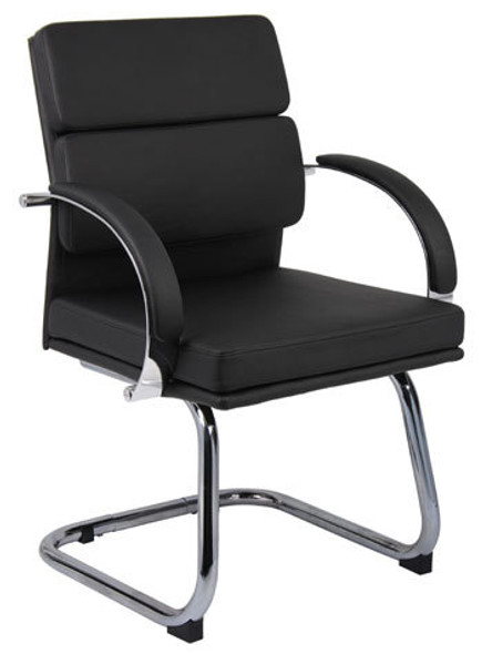 Boss Contemporary Side Chair with Chrome Frame [B9409] -2