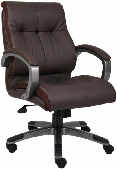 Boss LeatherPlus Mid Back Chair [B8776] -2