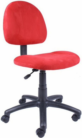 Boss Pink, Blue or Red Microfiber Desk Chair [B325] -1