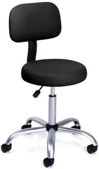 Boss Vinyl Medical Stool with Back [B245] -2