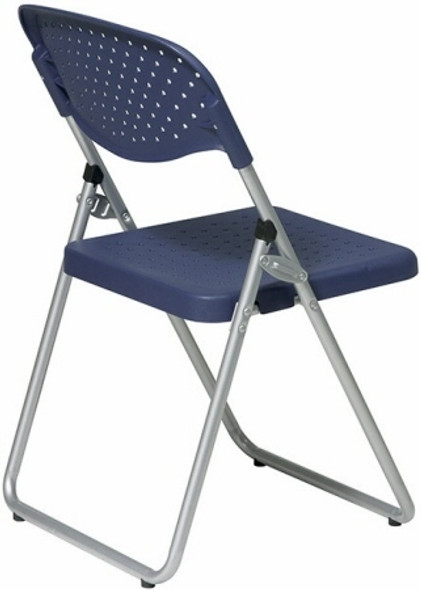 Ventilated Blue Plastic Folding Chairs [FC8000NS] -2