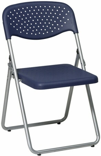 Ventilated Blue Plastic Folding Chairs [FC8000NS] -1