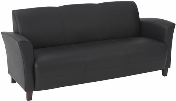 Contemporary Flared Arm Eco Leather Sofa [SL2273] -2
