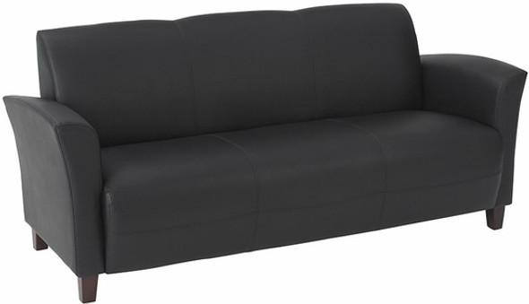 Contemporary Flared Arm Eco Leather Sofa [SL2273] -2