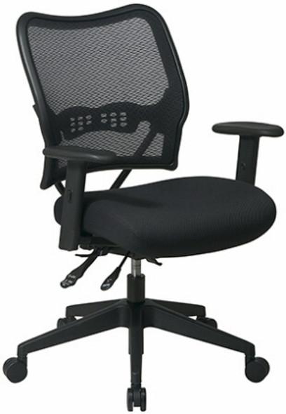 Deluxe Custom Fabric Seat Mesh Chair [13-7N9WA] -2