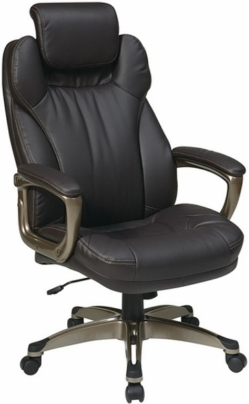 Eco Leather Office Chair with Built-In Headrest [ECH85801] -1