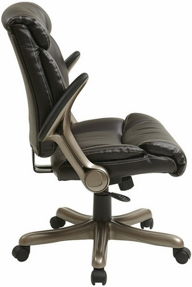 Eco-Leather Office Desk Chair with Flip Arms [ECH8967R5] -4
