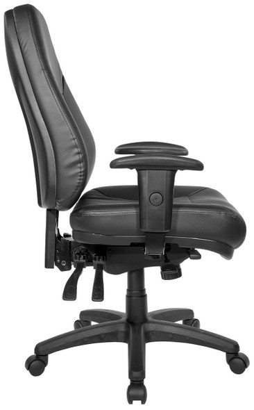 Ergonomic Eco-Leather Multi-Function Chair [EC4350] -Side
