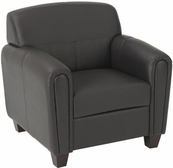 Espresso Faux Leather Club Chair [SL2571] -1