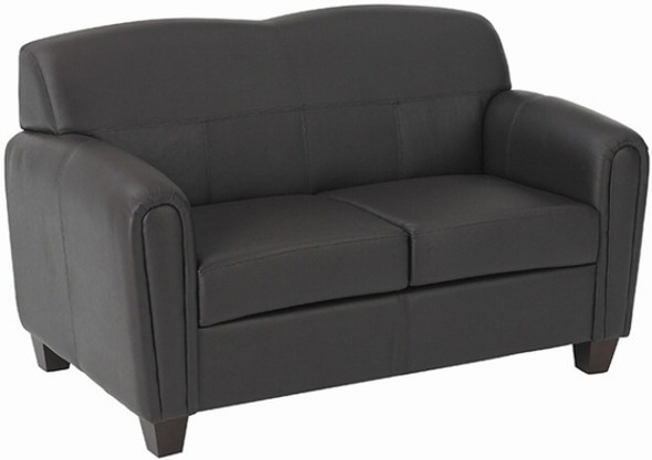 Espresso Faux Leather Loveseat [SL2572] -1