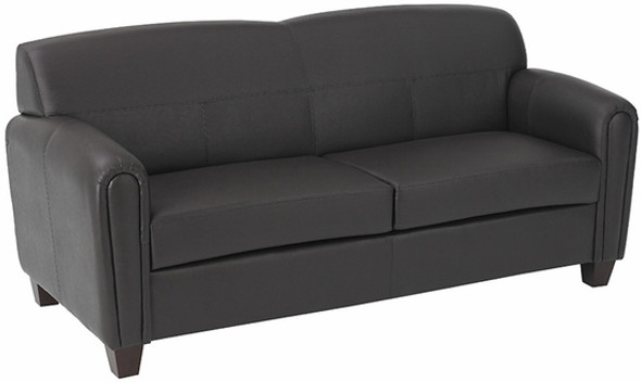 Espresso Faux Leather Office Sofa [SL2573] -1