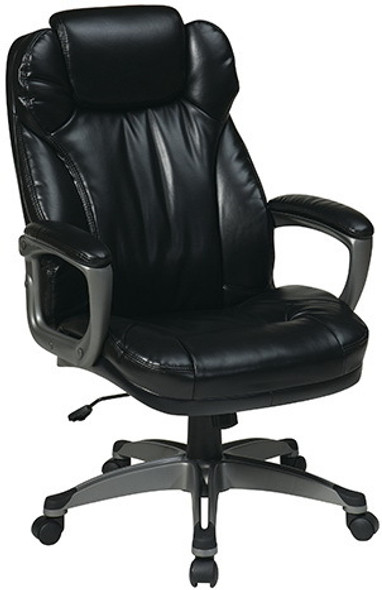 Executive Eco Leather Office Chair with Headrest [ECH85807] -2
