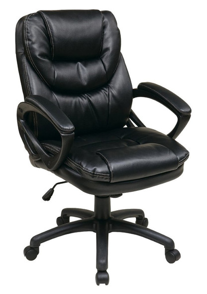 Office Star Faux Leather Manager's Chair [FL660] -1