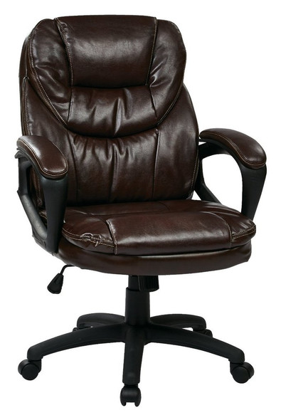 Office Star Faux Leather Manager's Chair [FL660] -2