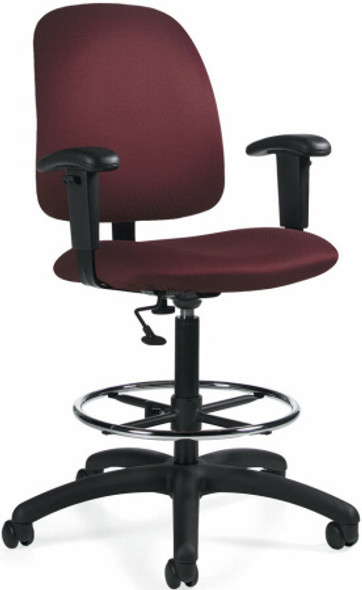 Global Goal Posture Back Drafting Stool [2235-6] -1