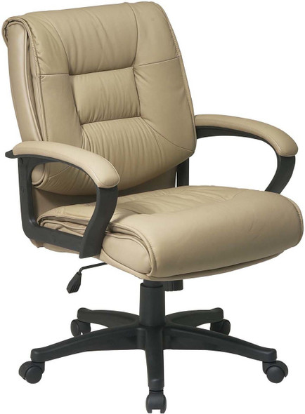 Mid Back Glove Soft Leather Office Chair [EX5161] -2