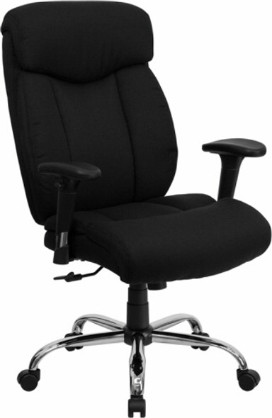 Hercules Black Fabric Big and Tall Chair [GO-1235-BK-FAB-GG] -2