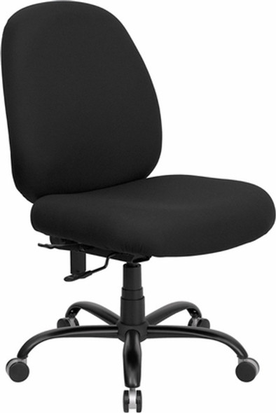 Hercules Mid Back Big and Tall Chair [WL-715MG-BK-GG] -1