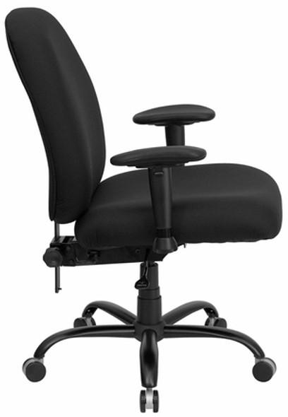 Hercules Mid Back Big and Tall Chair [WL-715MG-BK-GG] -2