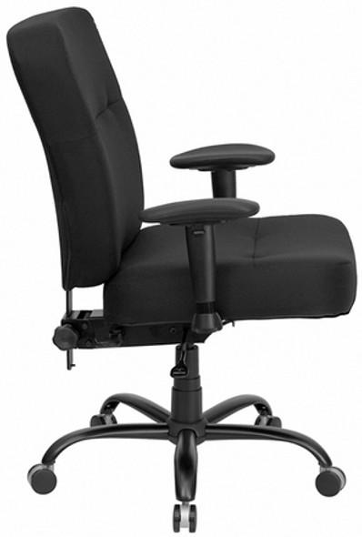 Hercules Series Armless Heavy Duty Office Chair [WL-735SYG-BK-GG] -2