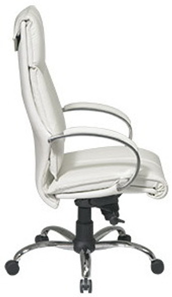 High Back Executive White Leather Office Chair [7270] -2