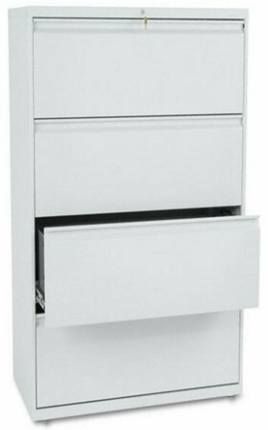 """HON 36"""" 4 Drawer Lateral File Cabinet [884L] -1"""