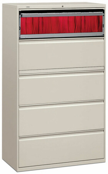 """HON 42"""" 5 Drawer Lateral File Cabinet [895L] -1"""
