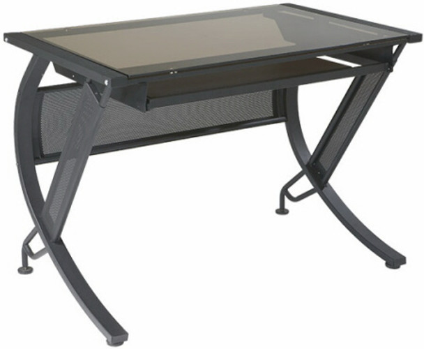 Horizon Tempered Glass Top Computer Desk [HZN25] -1