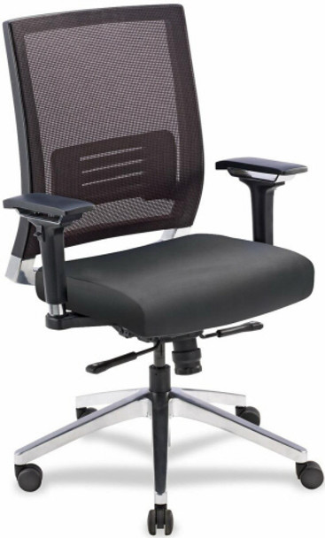 Lorell Mesh Back Computer Chair with Leather Seat [90041] -1