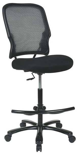 Mesh Back Heavy Duty Drafting Chair [15-37A720D] -front angle