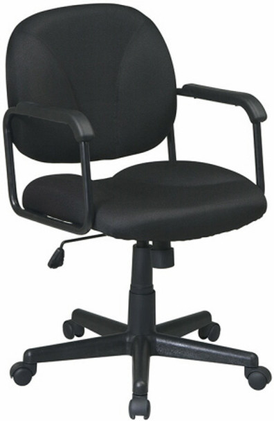Mid Back Swivel Office Chair with Arms [EX3301] -1